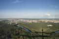 Aussicht vom Fernsehturm auf das Zentrum von Vilnius.