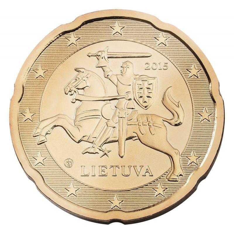 Litauische Euro-Münze: 20 Cent
