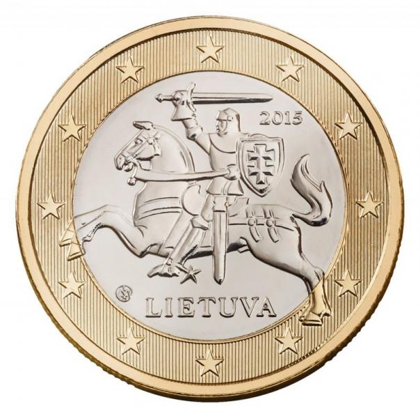 Litauische Euro-Münze: 1 Euro