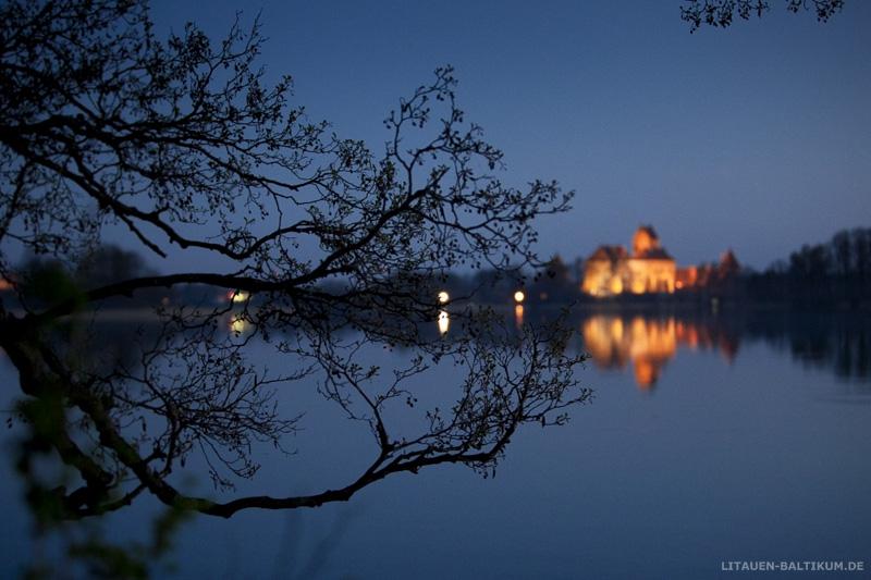 Wasserburg Trakai bei Nacht