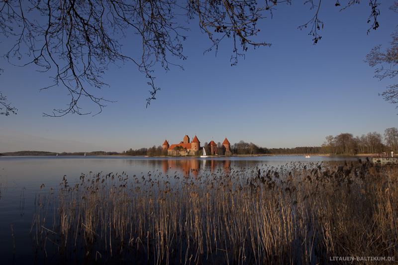 Blick auf die Wasserburg Trakai