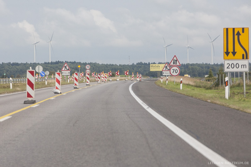 Autobahnbaustelle in Litauen