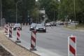 Verkehr und Baustelle in Vilnius