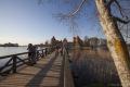 Brücke zur Wasserburg von Trakai