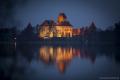 Wasserburg von Trakai bei Nacht