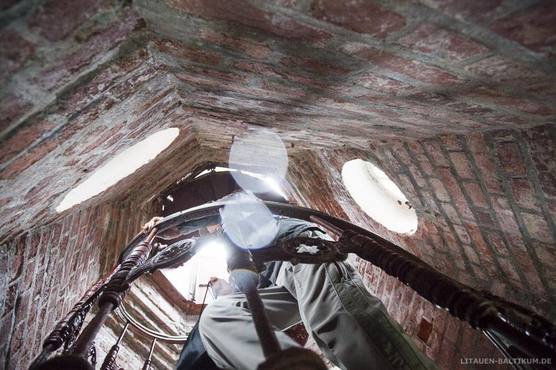 Windenburger Eck / Ventės ragas: Treppemhaus des Leuchtturms