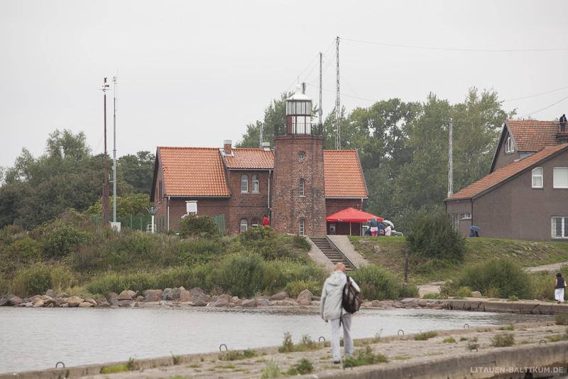 Windenburger Eck / Ventės ragas: Blick auf den Leuchtturm